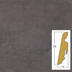 battiscopa in mdf, Andante 19 x 58 x 2400 mm