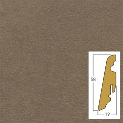 battiscopa in mdf, beige cemento 19 x 58 x 2400 mm
