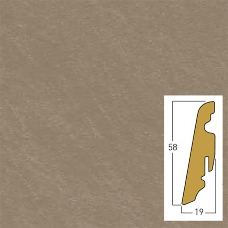 brown cemento 19 x 58 x 2400 mm mdf