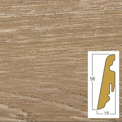 battiscopa Honey oak 19 x 58 x 2400 mm mdf