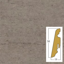 battiscopa moonlight grey 19 x 58 x 2400 mm mdf