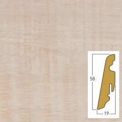 battiscopa Morena 19 x 58 x 2400 mm mdf