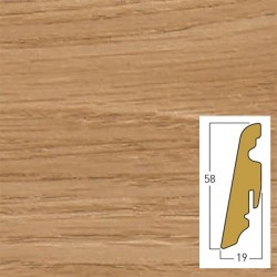 battiscopa victoria oak / piccadilly 19 x 58 x 2400 mm mdf