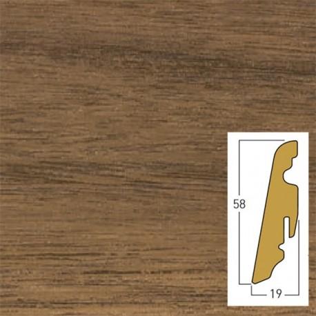 walnut/brownie/morris 19 x 58 x 2400 mm mdf