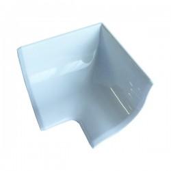 Copri spigolo interno 40 mm tappo angolare in pvc bianco