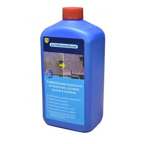 Antimousse Guard Lt 1 rimozione radicale di muschio, licheni, alghe e funghi