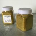 glitter oro idropittura grana medio/piccolae largh. 0,19mm 100gr