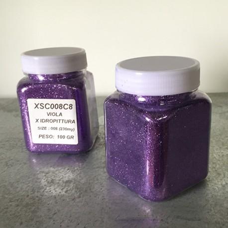 glitter viola idropittura grana medio/piccola largh. 0,23mm 100gr