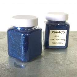 glitter blu grana piccola largh. 0,15mm sp. 0,012mm 100gr