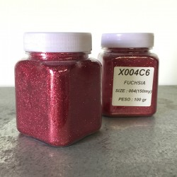 glitter fuchsia grana piccola largh. 0,15mm sp. 0,012mm 100gr