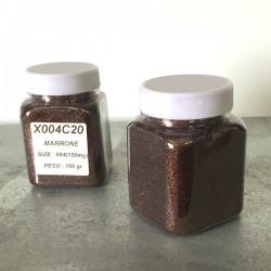 glitter marrone grana piccola largh. 0,15mm sp. 0,012mm 100gr