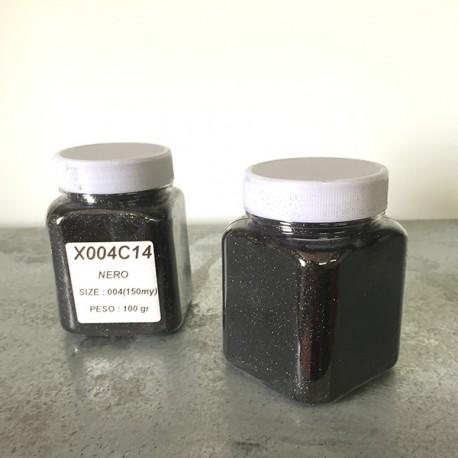 glitter nero grana piccola largh. 0,15mm sp. 0,012mm 100gr