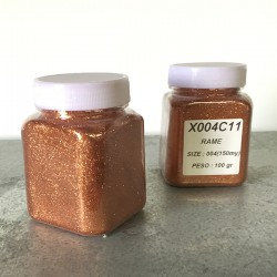 glitter rame grana piccola largh. 0,15mm sp. 0,012mm 100gr