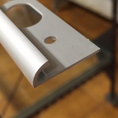 Terminale a 2 vie alluminio argento H 6 mm x lungh 2700 mm