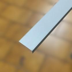 Listello decorativo 10x3x2700 mm alluminio anodizzato argento