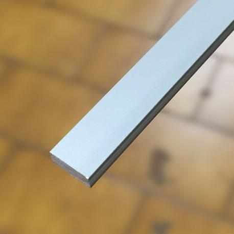 Listello decorativo 10x4x2700 mm alluminio anodizzato argento