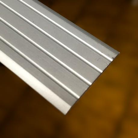Copri soglia 35 x 2,2 x 2700 mm alluminio anodizzato argento adesivo
