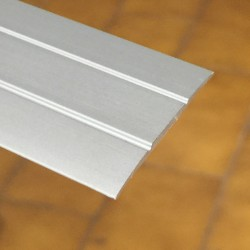 Copri soglia 37 x 2,7 x 2700 mm alluminio anodizzato argento adesivo