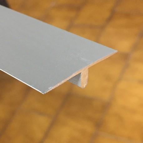 Giunto di dilatazione a T in alluminio anodizzato argento 40mm x 2700 mm