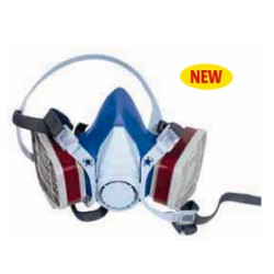 Maschera facciale filtrante con doppio filtro in silicone incluso