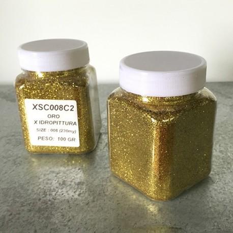 glitter ORO idropittura grana medio/grande largh. 0,385 mm 100gr