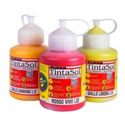TINTASOL ROSSO OSSIDO 250 Ml Pasta colorante universale, esente da leganti, per tinteggiare idropitture, smalti sintetici