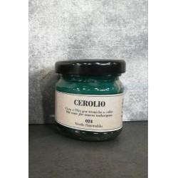 Colore ad olio a base cera VERDE SMERALDO Ml 40 in vaso GR2