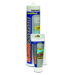 Silicone Acetico Universale GRIGIO RAL 7004 280 ml resistente a muffa ed agenti atmosferici Puro silicone per interni ed es