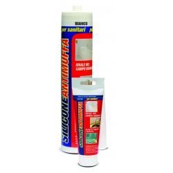 SILICONE ACETICO SANITARIO TRASPARENTE ML 80 Puro silicone per sanitari Ideale nel campo igienico Resiste a muffe e batte