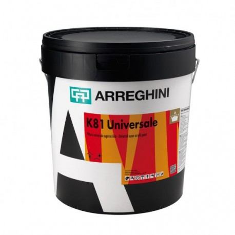 K81 Pittura Superacrilica Universale ROSSO VIVO per interno ed esterno Lt 4
