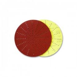 Disco autoaggrappante 225 150P di carta abrasiva al corindone, doppia resina, supporto D, struttura aperta. carta antistatica a