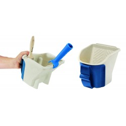 Ciotola Handy per pittura lt 1,1 con rete integrata, supporto per pennelli con ghiera in nichel o acciaio inox e impugnatur