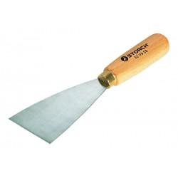 Spatola con lama in acciaio rigida rivettata con impugnatura in legno cm 12