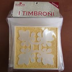 Timbrone 1070 2 pz per conf. cm 15x15 per effetti decorativi