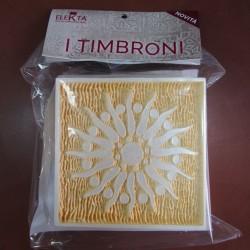 Timbrone 1090 2 pz per conf. cm 15x15 per effetti decorativi