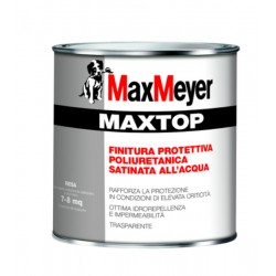 Maxtop finitura protettiva poliuretanica trasparente satinata all acqua Lt 2,5
