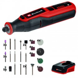 Smerigliatrice a stelo a batteria TE MT 7,2 Li controllo elettronico della velocit con display led 36 accessori inclusi
